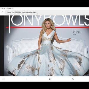 Rare Tony Bowls powder blue gown.  NWT.